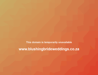 blushingbrideweddings.co.za screenshot