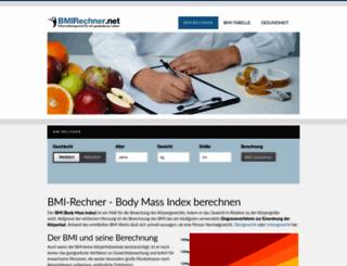 bmirechner.net screenshot