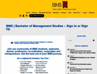 bms.co.in screenshot
