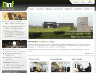 bnfindia.com screenshot