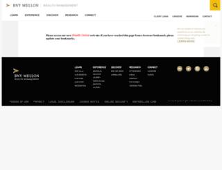 bnymellonwealthmanagement.com screenshot
