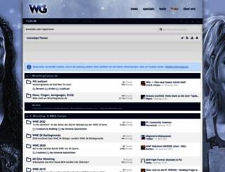 board.wrestlinggames.de screenshot