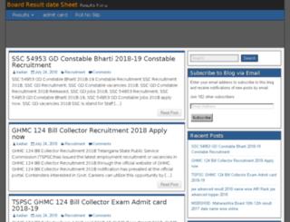 boardresultdatesheet.in screenshot