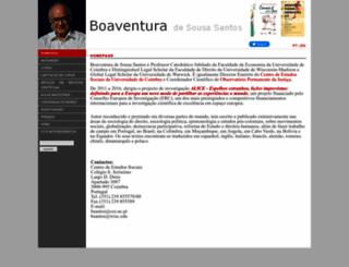 boaventuradesousasantos.pt screenshot