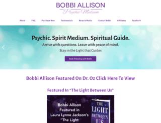 bobbiallison.com screenshot