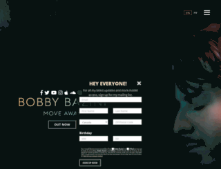 bobbybazini.com screenshot