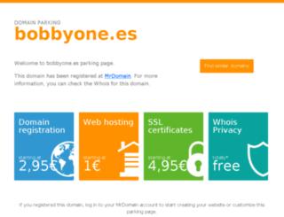 bobbyone.es screenshot