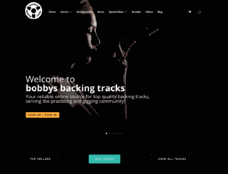 bobbysbackingtracks.com screenshot