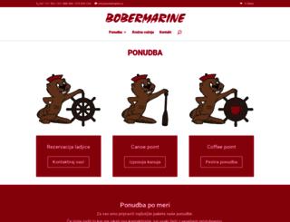 bobermarine.si screenshot