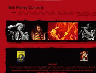 bobmarleyconcerts.com screenshot