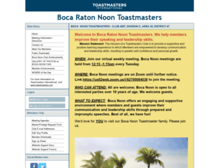 bocanoon.toastmastersclubs.org screenshot