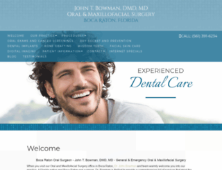 bocaratonoralsurgery.com screenshot