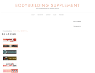 bodybuildingsupplementblog.com screenshot
