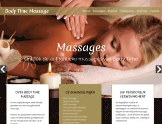 bodytime-massage.be screenshot