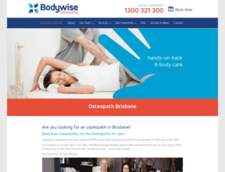 bodywiseosteo.com.au screenshot
