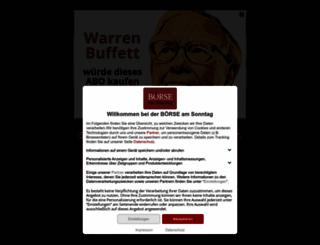 boerse-am-sonntag.de screenshot