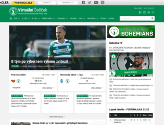 bohemians1905.cz screenshot