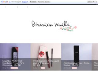 bohemianvanilla.com screenshot