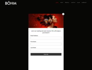 bohmaudio.com screenshot