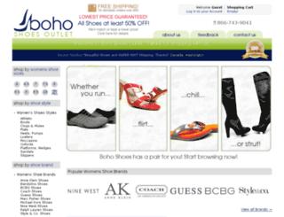 bohoshoes.com screenshot
