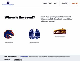 boisestatetickets.com screenshot