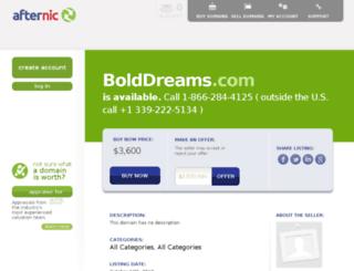 bolddreams.com screenshot