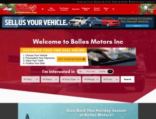 bollesmotors.com screenshot