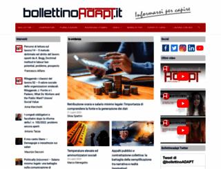 bollettinoadapt.it screenshot