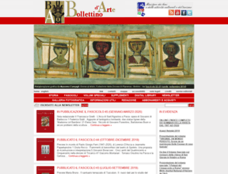 bollettinodarte.beniculturali.it screenshot