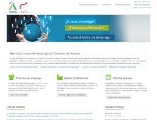 bolsa.arteixo.org screenshot