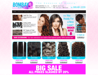 bombayhumanhair.com screenshot