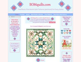 bomquilts.com screenshot