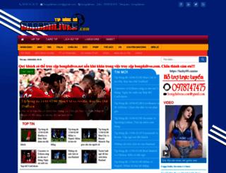 bongdalives.com screenshot