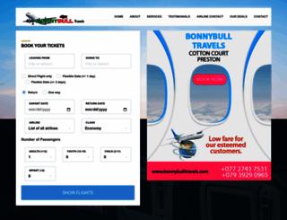 bonnybulltravels.com screenshot