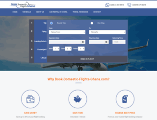 book-domestic-flights-ghana.com screenshot