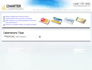 booking.chartercatamaran.com screenshot