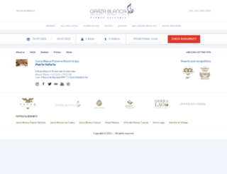 booking.garzablancaresort.com screenshot