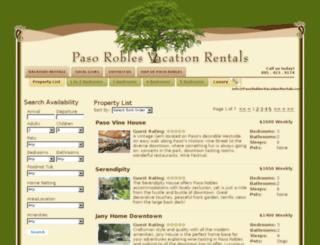 booking.pasoroblesvacationrentals.com screenshot