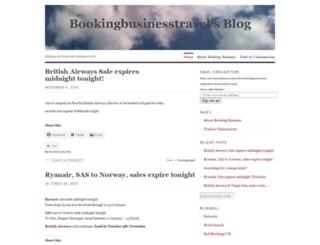 bookingbusinesstravel.wordpress.com screenshot