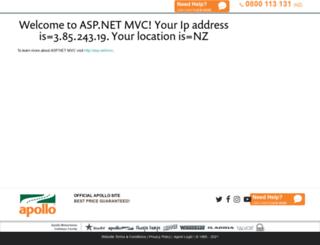 bookings.apollocamper.com screenshot