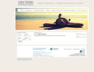 bookings.driftwoodmontauk.com screenshot