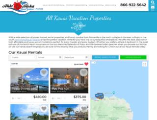 bookings.kauai-vacations-ahh.com screenshot