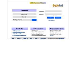 bookme.co.za screenshot
