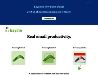 boomerangcalendar.baydin.com screenshot