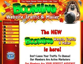boomingwebsitetraffic.com screenshot