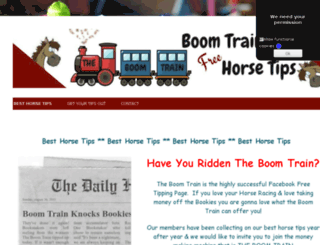 boomtrainhorsetips.co.uk screenshot