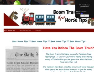 boomtrainhorsetips.co.uk screenshot