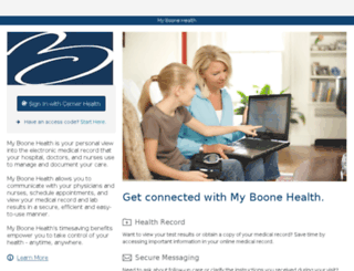 boonecohealth.iqhealth.com screenshot