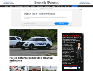 boonevilledemocrat.com screenshot