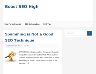 boostseohigh.com screenshot